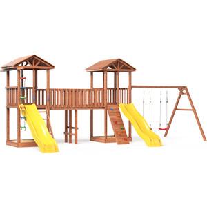 Детская площадка Красная звезда Можга Спортивный городок 6 с качелями и узким скалодромом СГ6-Р912-Р922 фото