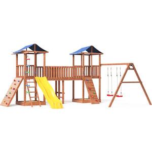 Детская площадка Красная звезда Можга Спортивный городок 7 (крыша тент) с качелями и широким скалодромом СГ7-Р912-Р923-Тент
