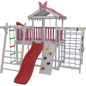 Детский домашний игровой комплекс Красная звезда чердак ДК2Р (розовый) ДК2Р детский игровой комплекс красная звезда панорама с горкой р955 1
