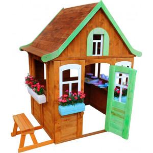 Детский домик Красная звезда Можга Цветочный с кухней и цветочницами Р920-2 комоды можга красная звезда с 585 п с настилом