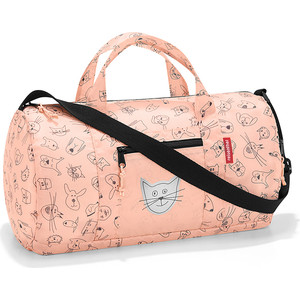 Сумка детская складная Reisenthel Dufflebag cats and dogs rose IH3064
