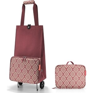 Сумка на колесиках Reisenthel Foldabletrolley diamonds rouge HK3065 сумка на колесиках foldabletrolley baroque taupe 1057663