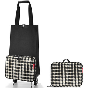 Сумка на колесиках Reisenthel Foldabletrolley fifties black HK7028 сумка на колесиках reisenthel сумка shopper e1 fifties black reisenthel