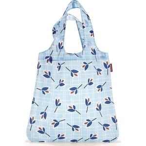Сумка складная Reisenthel Mini maxi shopper leaves blue AT4064 сумка для покупок складная reisenthel mini maxi shopper dots