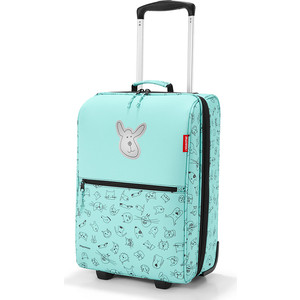 Чемодан детский Reisenthel Trolley XS cats and dogs mint IL4062