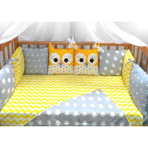 Комплект в кроватку Incanto 10 предметов Совята желтый 38533