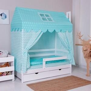 Комплект для кроватки Домик Incanto мятный