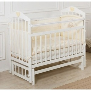 Кроватка Incanto Pali поперечный маятник белый KR-0006/0