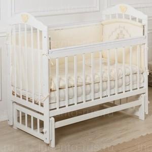 Кроватка Incanto Pali продольный маятник белый KR-0007/0