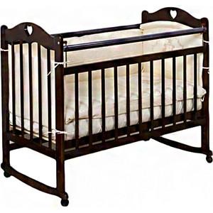 Кроватка Incanto Sofi колесо качалка темный KR-0008/2