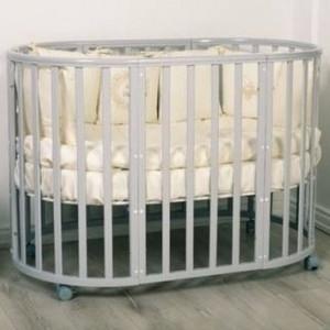 Кроватка трансформер Incanto Amelia 8 в 1 белая ночь KR-0027/5 functional fabric furniture sectional fold out sofa bed