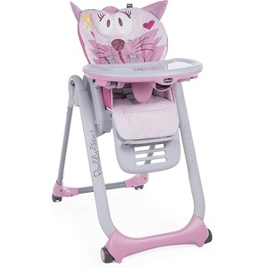 Стульчик для кормления Chicco Polly 2Start Miss Pink 94267