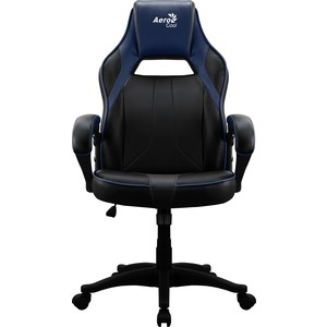 Кресло для геймера Aerocool AC40C air black blue кресло для геймера aerocool aero 2 alpha black blue черно синее до 150 кг шxдxв 64x67x111 119см газлифт класс 4 до 100 мм механизм бабочка