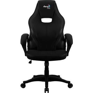 Кресло для геймера Aerocool AERO 2 alpha all black кресло для геймера aerocool aero 2 alpha black blue черно синее до 150 кг шxдxв 64x67x111 119см газлифт класс 4 до 100 мм механизм бабочка