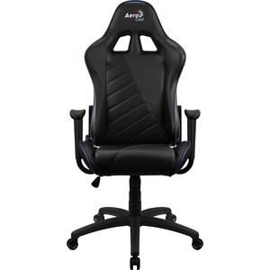 Кресло для геймера Aerocool AC110 air black blue кресло для геймера aerocool aero 2 alpha black blue черно синее до 150 кг шxдxв 64x67x111 119см газлифт класс 4 до 100 мм механизм бабочка