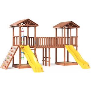 Детская площадка Красная звезда Можга Спортивный городок 6 с широким скалодромом СГ6-Р923 игровой комплекс можга спортивный городок 5 сг5