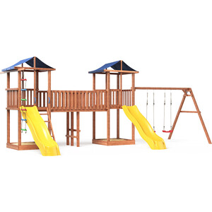 Детская площадка Красная звезда Можга Спортивный городок 6(Крыша Тент) с качелями СГ6-Р912-Тент