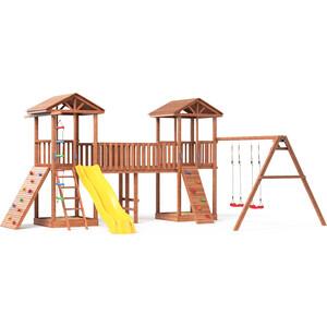 Детская площадка Красная звезда Можга Спортивный городок 7 с качелями и широким скалодромом СГ7-Р912-Р923