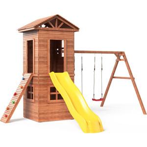 Детская площадка Красная звезда Можга Спортивный городок 8 c узким скалодромом СГ8-Р922 фото