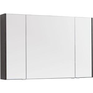 Зеркало-шкаф Aquanet Остин 120 дуб кантербери/белый (201725)