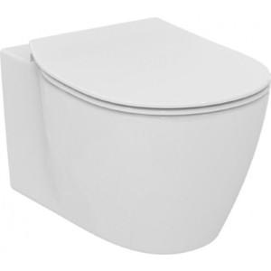 Унитаз подвесной Ideal Standard Connect Aquablade с тонким сиденьем микролифт (E047901, E772401)