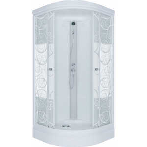 Душевая кабина Triton Стандарт А ДН3 100х100 задние стенки белые, стекла Аква узоры (Щ0000025945)