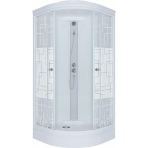 Душевая кабина Triton Стандарт А ДН4 90х90 задние стенки белые, стекла Аква квадраты (Щ0000027236)