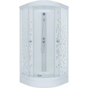 Душевая кабина Triton Стандарт А ДН4 90х90 задние стенки белые, стекла Аква мозайка (Щ0000027237) цена