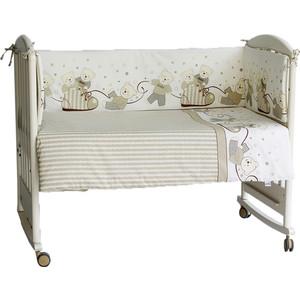 Бортик в кроватку Pituso Мишки бежевый мб 102