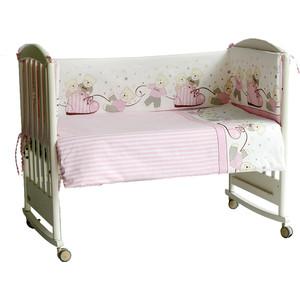 Бортик в кроватку Pituso Мишки розовый мр 102