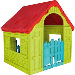 Игровой дом Keter Foldable Playhouse складной зеленый/красный 17202656732 цена