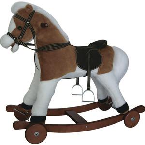 Качалка лошадка Pituso Fandango с колесами Delux св -кор с белым 84x31x70 см gs3033w цена