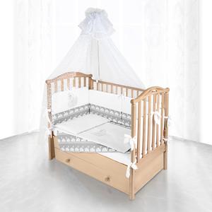 цена на Комплект в кроватку Pituso Лебедь 6пр серый 120х60 p03g1
