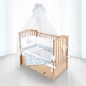 Комплект в кроватку Pituso Пчелки 6пр голубой 120x60 p01b1 pituso pink letters