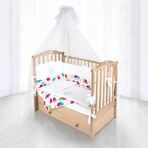 Комплект в кроватку Pituso Сердечки 6пр белый 120x60 p08w1