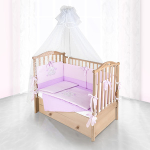Комплект в кроватку Pituso Топтыжка 6пр сирень 120x60 p10l1