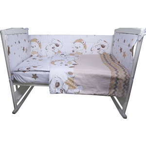 Комплект в кроватку BamBola 4пр Умка сатин поплин бежевый 415