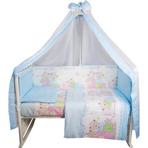 Комплект в кроватку BamBola 7пр Сладких Снов поплин голубой 739 футболка print bar сладких снов