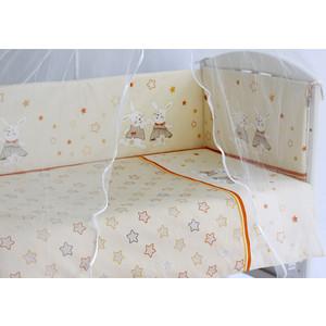 Комплект в кроватку Pituso Зайки 6 пр кремовый (зб 601)
