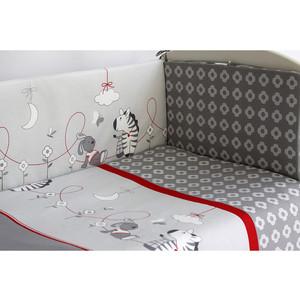 Комплект в кроватку Pituso Зебры 6 пр серый (зс 603) комплект в кроватку bombus l abeille spring song 6 пр