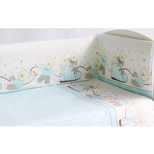 Комплект в кроватку Pituso Мишки 6 пр голубой (мг 602) rodania часы rodania 25062 40 коллекция vv1