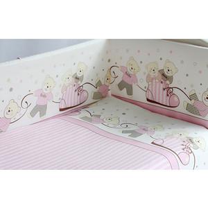 Комплект в кроватку Pituso Мишки 6 пр розовый (мр 602)