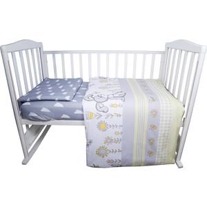 Комплект детского постельного белья BamBola Лето бязь желтый 49