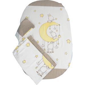 Комплект детского постельного белья BamBola Лунные Качели сатин кофе 45