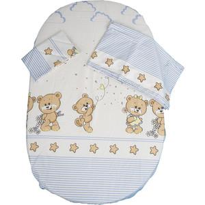 Комплект детского постельного белья BamBola Прогулка сатин голубой 44