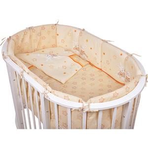 Комплект для овальной кроватки Pituso Зайки 6 пр кремовый (зб 604) стоимость