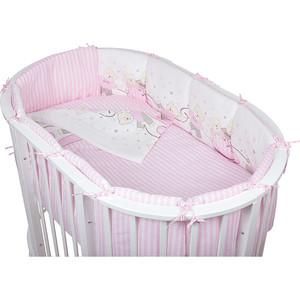 Комплект для овальной кроватки Pituso Мишки 6 пр розовый (мр 605)