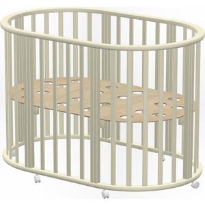 Кроватка Ведрусс Оливия new овальная 6 в1 место 1 слоновая кость vd4402102 стоимость