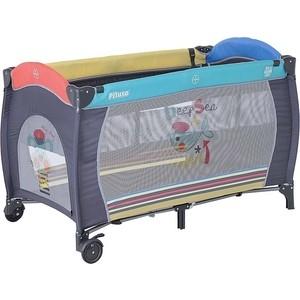 Манеж кровать Pituso Granada песик 2-уровневый 120x60 p613-mix01