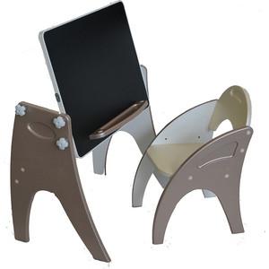Набор мебели Интехпроект Буквы Цифры парта-мольберт стульчик латте 14-438